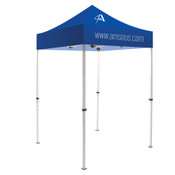 5ft Blue Tent 1 Color Logo