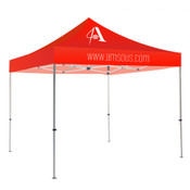 Red Tent Steel 10 ft. 1 Color Print