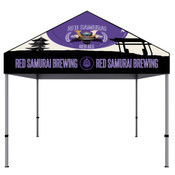 ONE CHOICE® 10 Ft. Aluminum Canopy Tent Dye-Sub Graphic Package (Black Trim)
