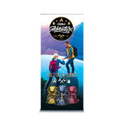 ONE CHOICE ® - 36 X 80 In. Best Roll Up Silver Super Flat Graphic Package