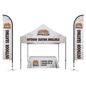 ONE CHOICE ® Kit 1: 2 Feather Flags , 6ft Table Throw, Casita Tent