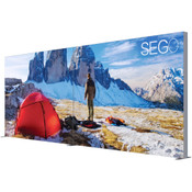 SEGO Modular Lightbox Display Configuration A - 20ft.X10ft. Double-Sided Graphic Package