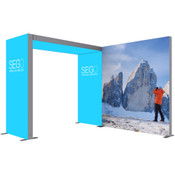 SEGO Modular Lightbox Display Configuration C - 10ft.X10ft. Double-Sided Graphic Package