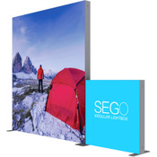 SEGO Modular Lightbox Display Configuration D - 10ft.X10ft. Double-Sided Graphic Package